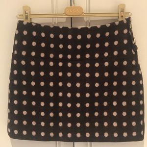 Ted Baker Skirt, Mini, Size 2, Wool, Brown & Pink